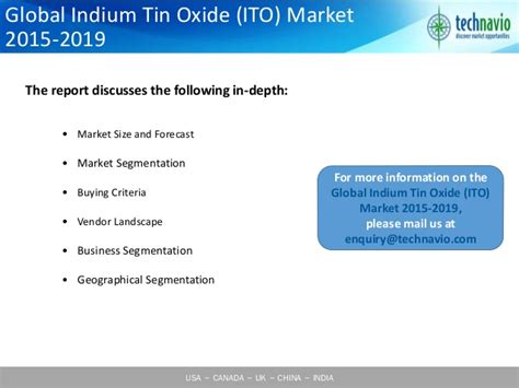 Global Views Home Decor by Global Indium Tin Oxide Ito Market 2015 2019