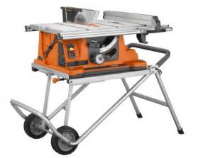 Table Saw On Sale Ridgid R4510 Heavy Duty Portable Table Saw With Stand For
