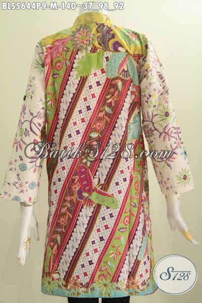 Sudah Bahagia Lengan Panjang jual baju batik muslim untuk wanita hadir dengan desain