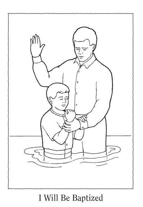 baptism coloring pages happy clean living primary 5 lesson 12