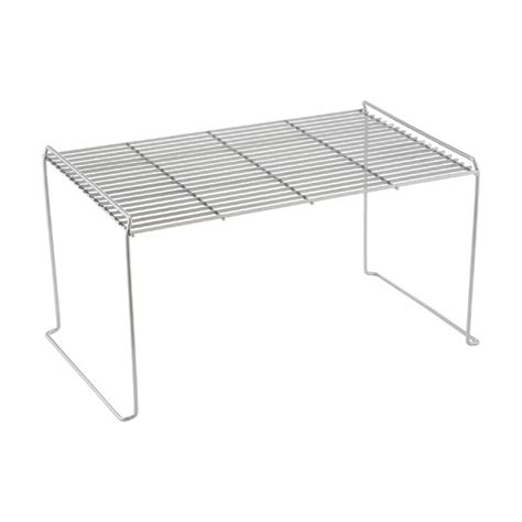 large flat wire stackable shelves the container store