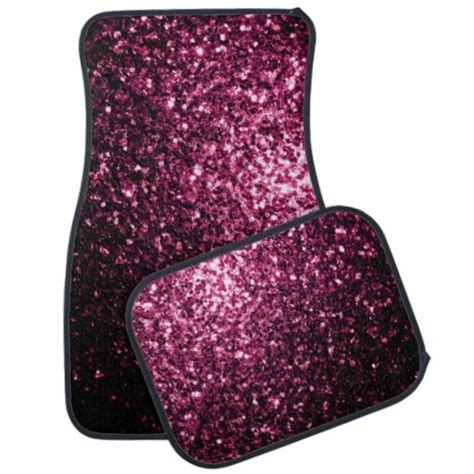 pink glitter car beautiful pink glitter sparkles car mats set by pldesign