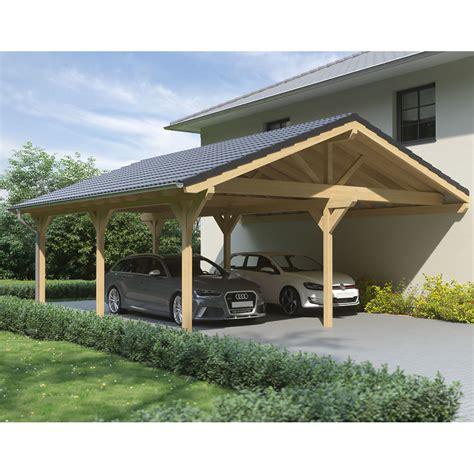 leimholz carport carport satteldach leimholz holz 8x8 m 800x800 cm