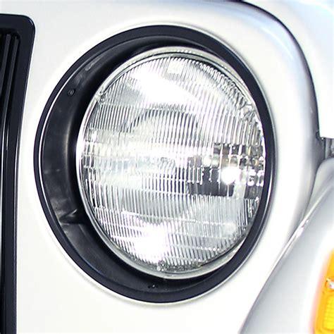 1997 Jeep Wrangler Headlights Replacement Headlight Bezels Black 1997 2006 Jeep
