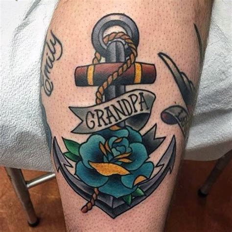grandpa tattoos designs 25 best ideas about traditional anchor on
