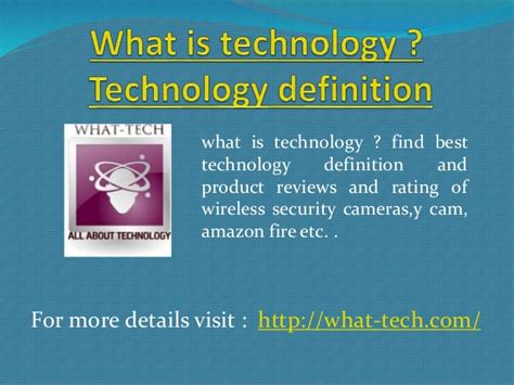 what is technology technology definition