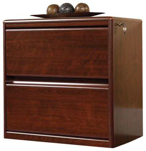 Sauder Cornerstone 2 Drawer Lateral Wood File Cabinet In Cherry Wood File Cabinet 2 Drawer