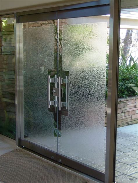 Entry Glass Door Gluechipped Frameless Glass Doors Sans Soucie