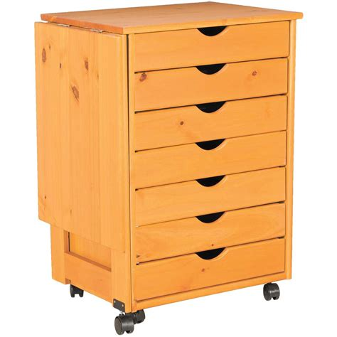 Drop Drawers by Drop Leaf 7 Drawer Roll Cart 76178 Home Or Office