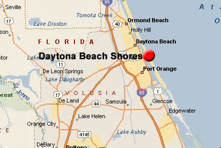 daytona shores map related to real estate listings