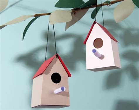 Paper Craft Kits For Adults - 8 die cut card birdhouses craft kit adults papercraft