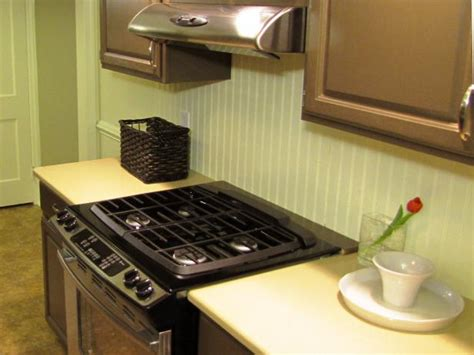 installing backsplash in kitchen how to install a beadboard backsplash diy