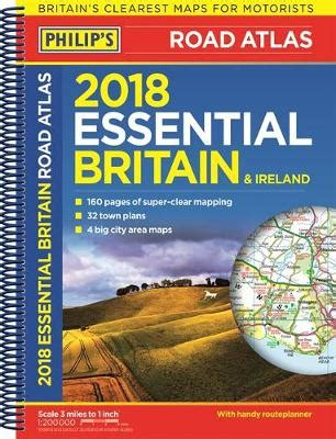 Check Waterstones Gift Card Balance - philip s 2018 essential road atlas britain and ireland spiral a4 waterstones