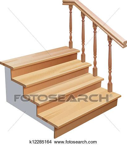 clipart of wooden stairs k12285164 search clip art