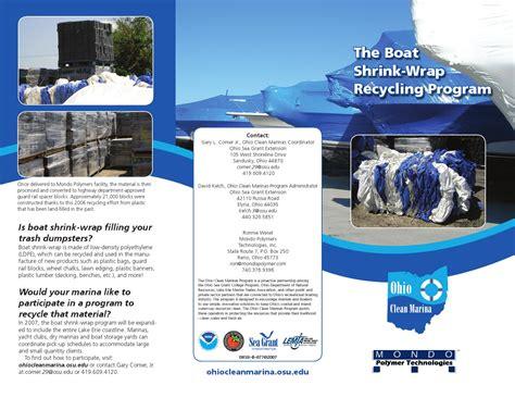boat shrink wrap pinckney mi boat shrink wrap recycling program by lorain county ohio