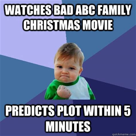 Family Christmas Meme - watches bad abc family christmas movie predicts plot