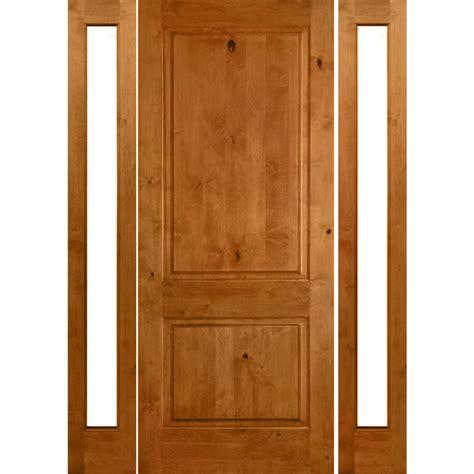 krosswood doors 18 in x 80 in knotty alder 2 panel krosswood doors 64 in x 80 in rustic knotty alder