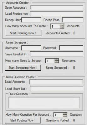 askfm support ask fm multifunction bot accounts creator users scraper