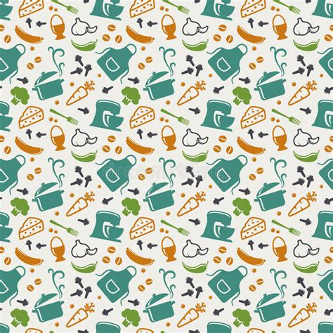kitchen pattern vector free kitchen seamless pattern vector background stock vector