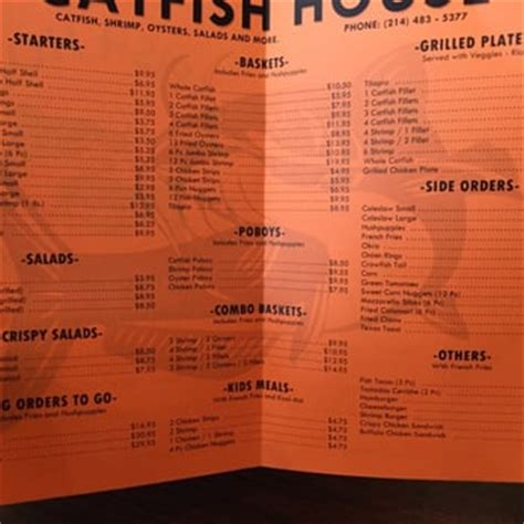 catfish house carrollton catfish house seafood reviews menu yelp