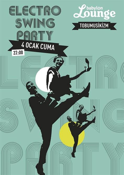 swing part electro swing party poster electro swing club hollywood