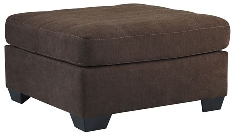 accent ottoman maier walnut oversized accent ottoman from ashley 4520108