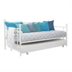 Day Bed Trundle Manila Metal Framed Daybed With Trundle In In White