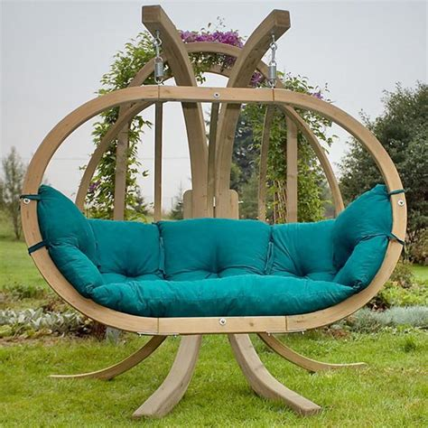 seat swings garden furniture amazonas globo royal hanging swing seat with stand