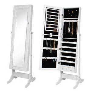 Jewelry Armoire Mirrored White Mirrored Jewelry Armoire Jet
