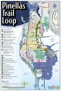 florida trail map pdf pinellas trail loop maps