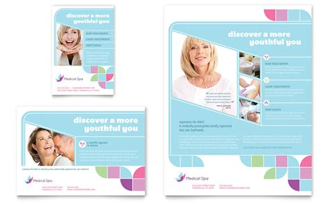 medical spa flyer ad template word publisher
