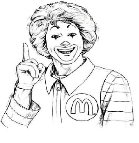 Mcdonalds Coloring Pages ronald mcdonald colouring pages