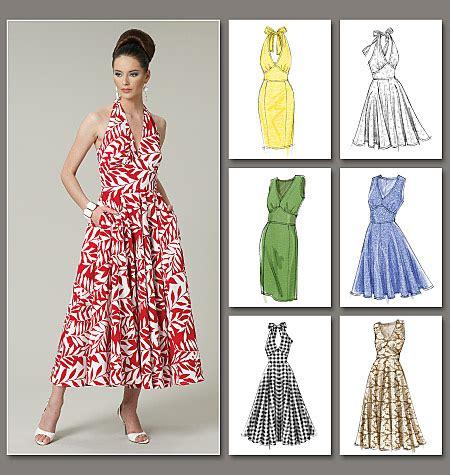 simple dress design pattern vogue patterns 8727 misses dress vogue easy options