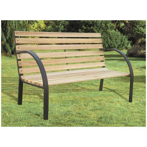panchina legno giardino panca da giardino legno e metallo