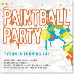 paintball blast birthday party invitations in calypso