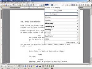 microsoft word screenplay template the insider using microsoft 174 word for screenwriting