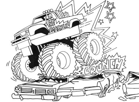 monster truck coloring page coloring pages  adult