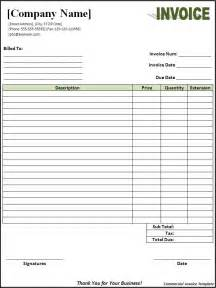 invoice templates free commercial invoice template free printable word templates