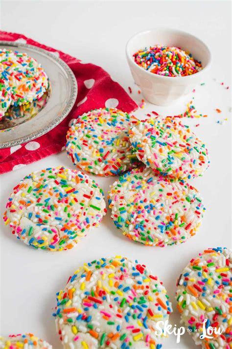 easy funfetti cookies delicious colorful skip   lou