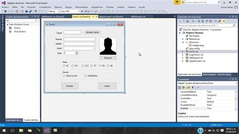 imagenes botones visual basic registro alumnos visual basic vectores parte i youtube