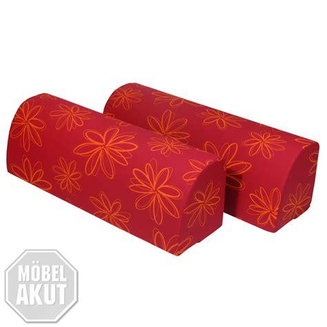 Kissen Um Aus Bett Sofa Zu Machen by R 220 Ckenkissen 2er Set Chilly Umbaukissen Kissen Rot Schwarz