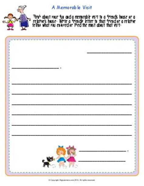 Thank You Letter To Second Grade Friendly Letters Thank You Notes Invitations Second Grade Worksheets Biglearners