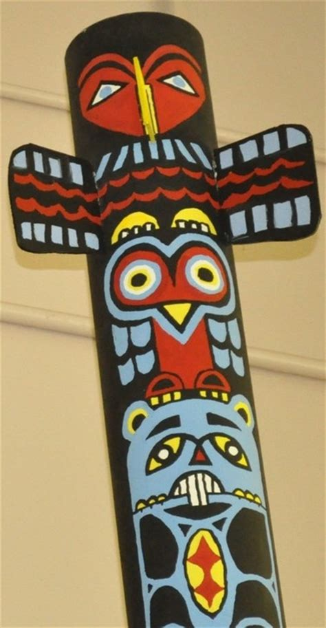 How To Make A Paper Totem Pole - 17 best ideas about totem pole craft on