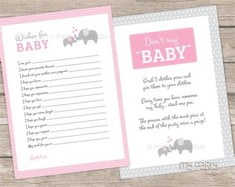 printable baby shower games girl elephant girl baby shower printable baby shower games my