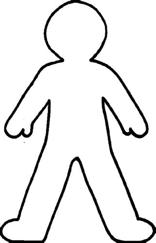 Free Blank Person Template Download Free Clip Art Free Clip Art On Clipart Library Person Template For Kindergarten