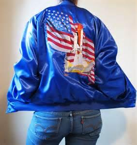 Vintage Nursery Decor Vintage Blue Satin Jacket Sale Embroidered Jacket