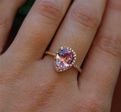 13 amazing color engagement rings weddingmix
