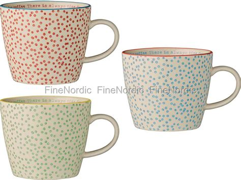 Etagere Tasse by Bloomingville Mugs With Dots And Text Inside Set Of 3