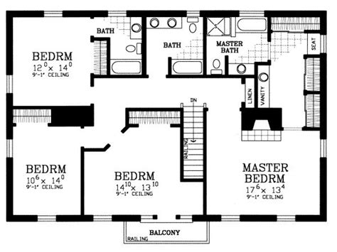 house plans 4 bedroom 4 bedroom house floor plans free home deco plans