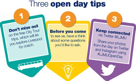 tips for day undergraduate open days liverpool moores